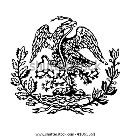 Mexican coat of arms - stock vector