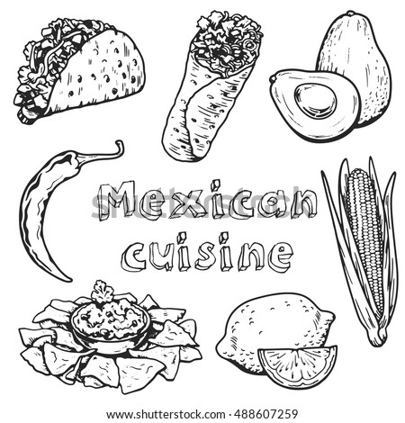 Mexican cuisine and culture Vector images