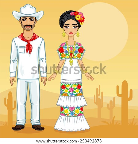 mexican family in traditional
