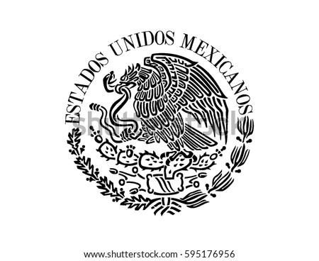 mexican flag emblem