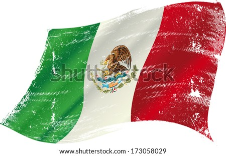 mexican flag grunge mexican
