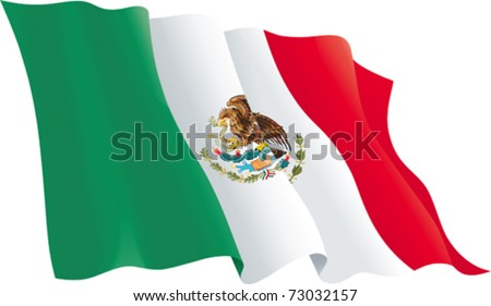 mexican flag vector flag of