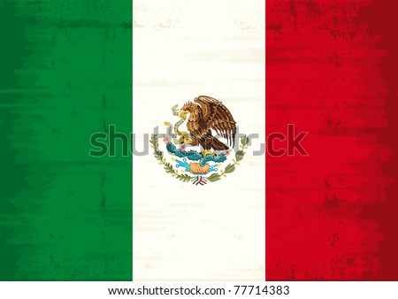 mexican grunge flag a mexican