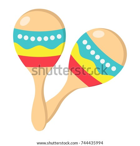 Mexican maracas flat icon, music and instrument, sound sign vector graphics, a colorful solid pattern on a white background, eps 10.