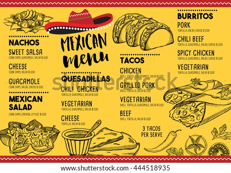 mexican menu template vector download free vector art stock