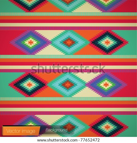 Mexican rug background Vector image