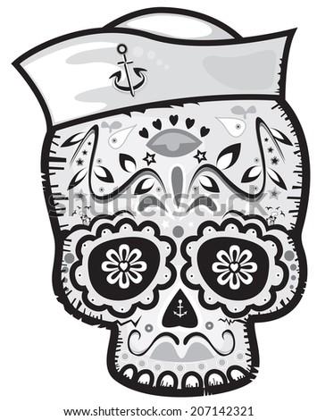 mexican sailor sugar skull