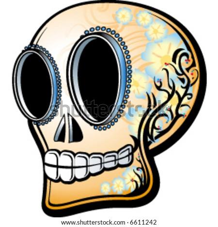 stock vector mexican skull