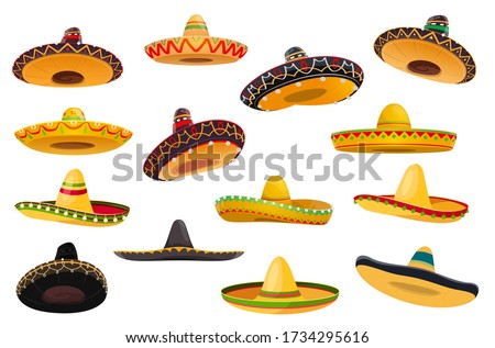 mexican sombrero hat isolated