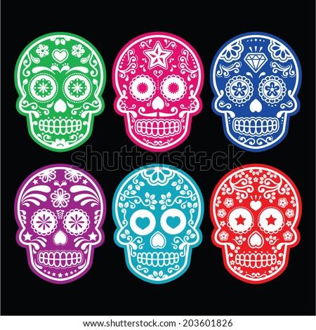 mexican sugar skull  dia de los
