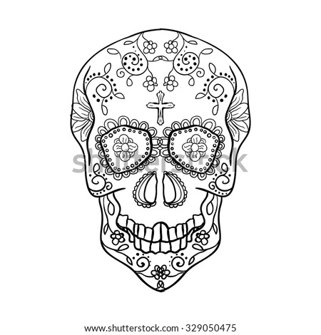 vector illustration of skull the day of the death ez canvas