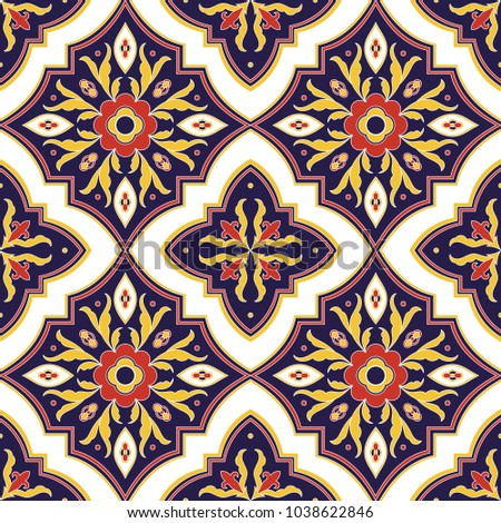 mexican tile pattern vector