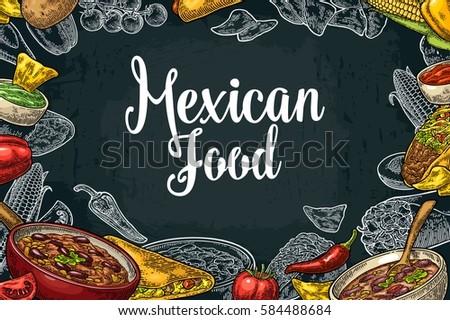 mexican food menu vector download free vector art stock graphics