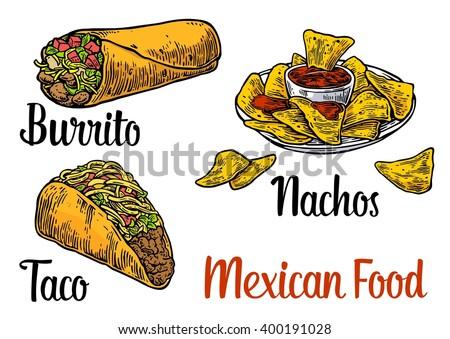 fab73c599c8d0 Mexican Food Vector Set - Download Free Vector Art