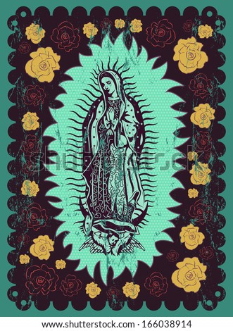 mexican virgin of guadalupe  ...