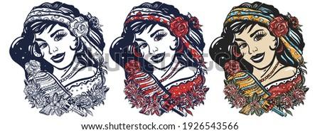 mexican woman portrait latin