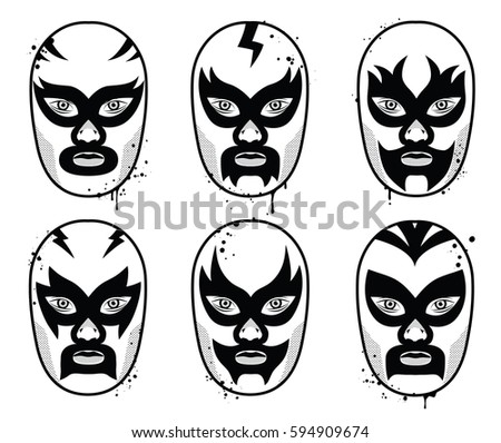 mexican wrestler vector download free vector art stock graphics