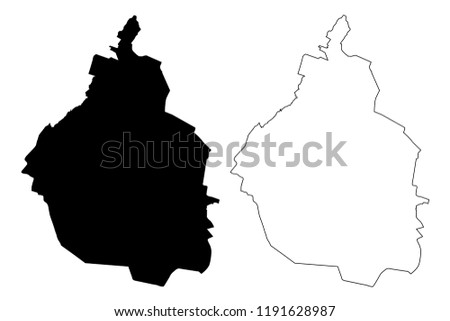 Mexico City (United Mexican States, Mexico, federal republic) map vector illustration, scribble sketch City of Mexico (CDMX) map