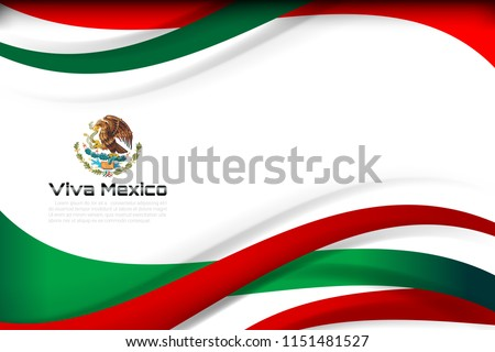 Mexico flag color background concept for National holiday, Independence Day and other events