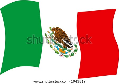 mexico flag. stock vector : Mexico flag II