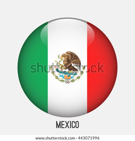 mexico flag in circle shape
