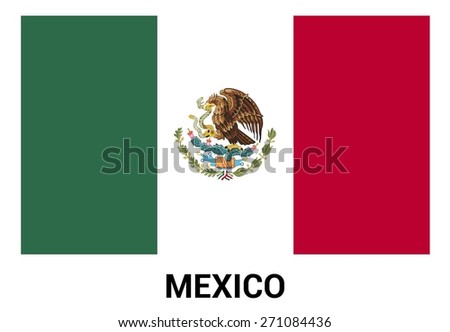 mexico flag isolated vector in