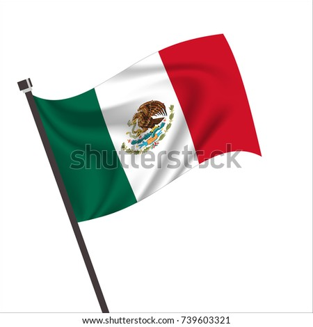 Mexico Flag. Mexico Icon vector illustration,National flag for country of Mexico isolated, banner vector illustration. Vector illustration eps10.