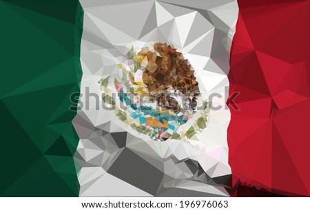 mexico flag   polygonal