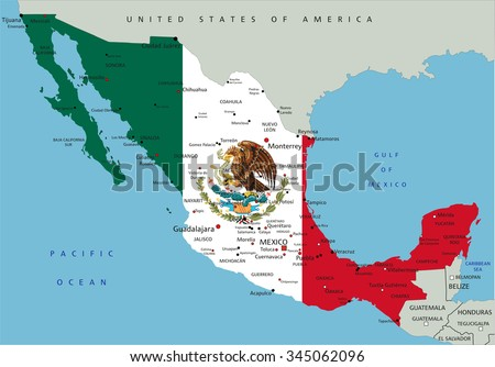 Central America Map Background Vector Download Free Vector Art - Political map of mexico