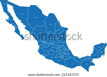 Mexico Map Vector - Download Free Vectors, Clipart Graphics ...