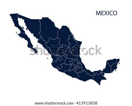 Mexico map Foto stock ©