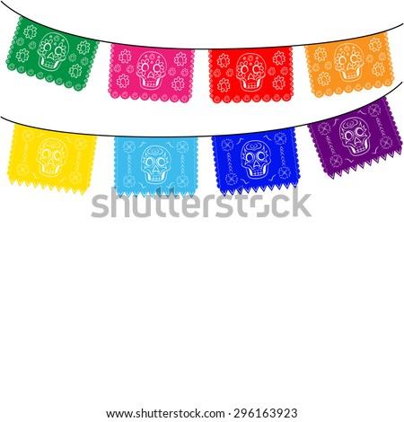 mexico multicolored template
