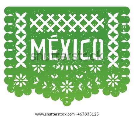 mexico party paper cut flag...