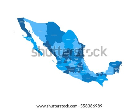 Mexico Regions Map