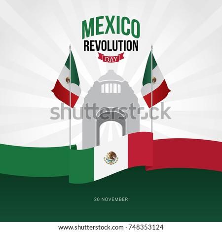Shutterstock Mexico Revolution Day Vector Design.