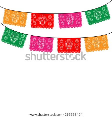 mexico template with hanging