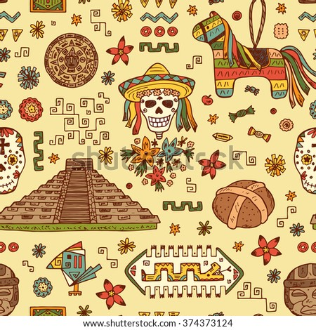 mexico vector seamless pattern