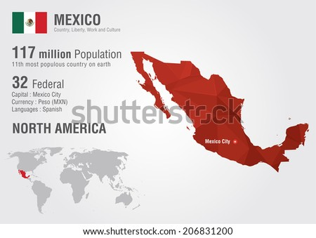 Free mapa mexico vector mexico world map with a pixel diamond texture world geography gumiabroncs Choice Image