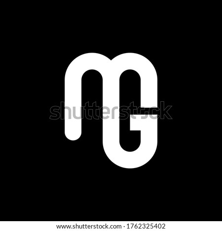 MG Letter Logo Design. Initial letters MG logo icon. Abstract letter MG M G minimal logo design template. M G letter design vector with black colors. mg logo.