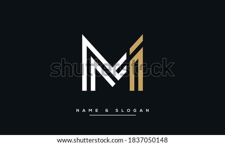 MI, IM Abstract Letters Logo Monogram Zdjęcia stock ©