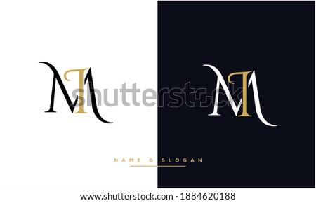 MI ,IM  Abstract Letters Logo Monogram Stok fotoğraf ©