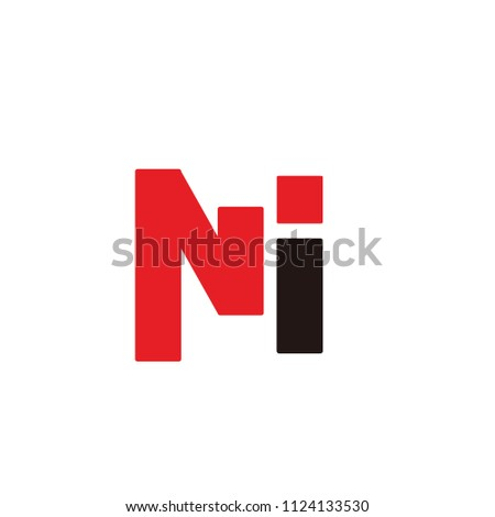 mi letter vector logo. ni letter vector logo Zdjęcia stock ©