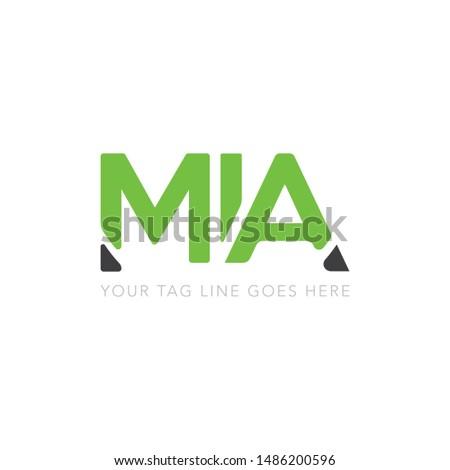 MIA Logo Design - Vector Stock fotó ©