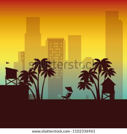 miami beach cityscape scene