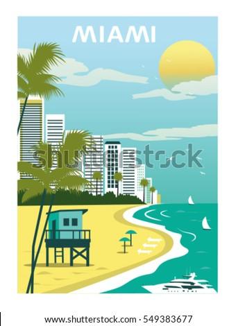 miami beach floridavector