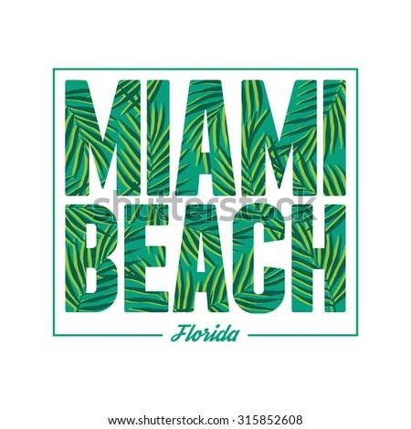 miami beach typography summer