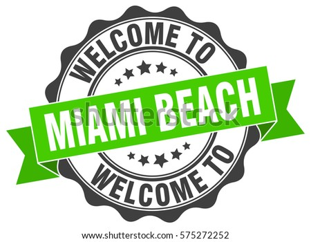 Miami Beach. Welcome to Miami Beach stamp