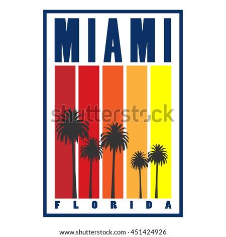 miami city concept logo  label