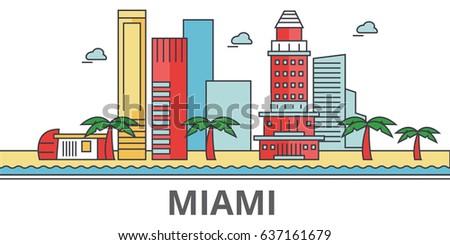 miami city skyline  buildings