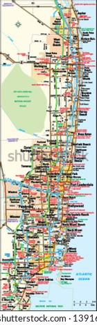 Miami Florida area map